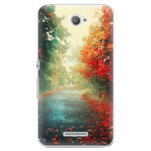 Plastové pouzdro iSaprio Autumn 03 na mobil Sony Xperia E4