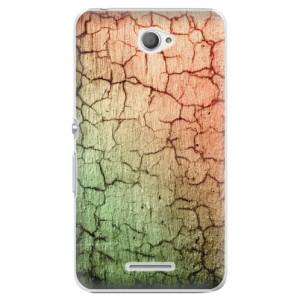 Plastové pouzdro iSaprio Cracked Wall 01 na mobil Sony Xperia E4