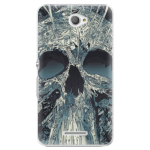 Plastové pouzdro iSaprio Abstract Skull na mobil Sony Xperia E4