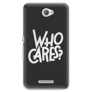 Plastové pouzdro iSaprio Who Cares na mobil Sony Xperia E4