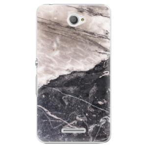 Plastové pouzdro iSaprio BW Marble na mobil Sony Xperia E4
