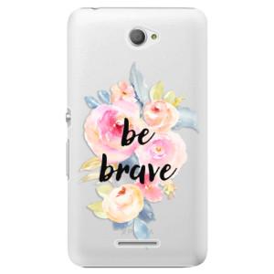 Plastové pouzdro iSaprio Be Brave na mobil Sony Xperia E4
