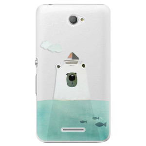 Plastové pouzdro iSaprio Bear With Boat na mobil Sony Xperia E4