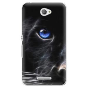 Plastové pouzdro iSaprio Black Puma na mobil Sony Xperia E4