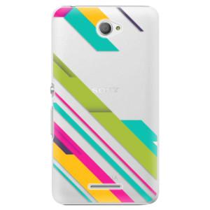 Plastové pouzdro iSaprio Color Stripes 03 na mobil Sony Xperia E4