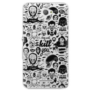 Plastové pouzdro iSaprio Comics 01 black na mobil Sony Xperia E4
