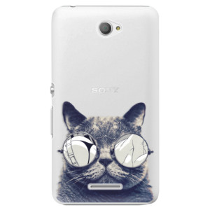 Plastové pouzdro iSaprio Crazy Cat 01 na mobil Sony Xperia E4