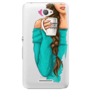 Plastové pouzdro iSaprio My Coffe and Brunette Girl na mobil Sony Xperia E4