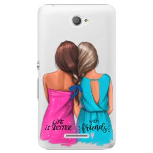 Plastové pouzdro iSaprio Best Friends na mobil Sony Xperia E4