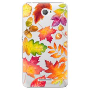 Plastové pouzdro iSaprio Autumn Leaves 01 na mobil Sony Xperia E4