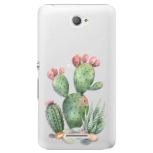 Plastové pouzdro iSaprio Cacti 01 na mobil Sony Xperia E4