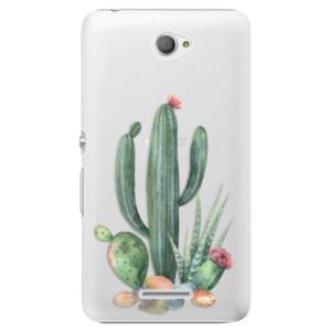 Plastové pouzdro iSaprio Cacti 02 na mobil Sony Xperia E4