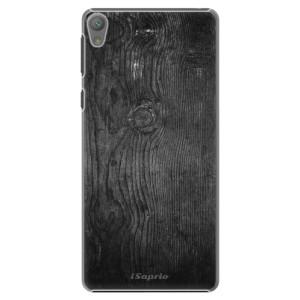 Plastové pouzdro iSaprio Black Wood 13 na mobil Sony Xperia E5