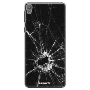 Plastové pouzdro iSaprio Broken Glass 10 na mobil Sony Xperia E5