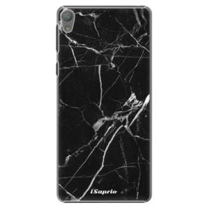 Plastové pouzdro iSaprio Black Marble 18 na mobil Sony Xperia E5