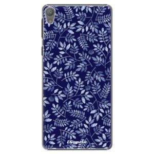 Plastové pouzdro iSaprio Blue Leaves 05 na mobil Sony Xperia E5