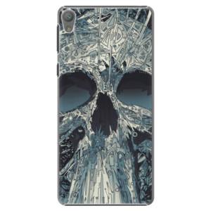 Plastové pouzdro iSaprio Abstract Skull na mobil Sony Xperia E5