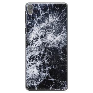 Plastové pouzdro iSaprio Cracked na mobil Sony Xperia E5