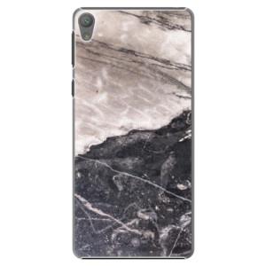 Plastové pouzdro iSaprio BW Marble na mobil Sony Xperia E5