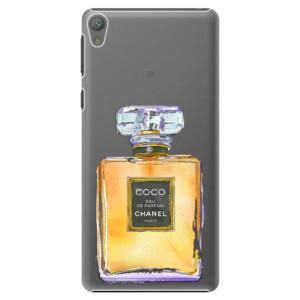 Plastové pouzdro iSaprio Chanel Gold na mobil Sony Xperia E5