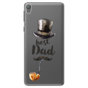 Plastové pouzdro iSaprio Best Dad na mobil Sony Xperia E5