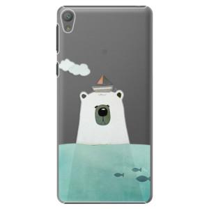Plastové pouzdro iSaprio Bear With Boat na mobil Sony Xperia E5