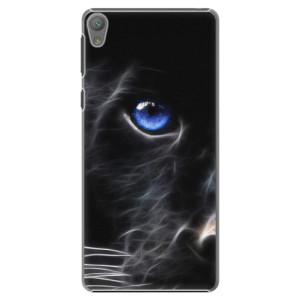 Plastové pouzdro iSaprio Black Puma na mobil Sony Xperia E5
