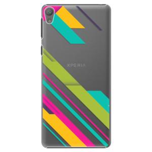 Plastové pouzdro iSaprio Color Stripes 03 na mobil Sony Xperia E5