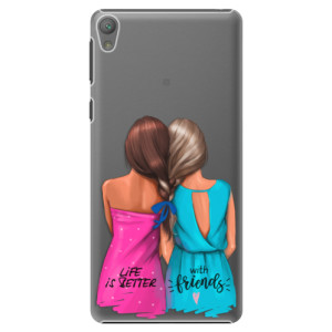 Plastové pouzdro iSaprio Best Friends na mobil Sony Xperia E5