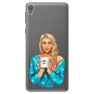 Plastové pouzdro iSaprio Coffe Now Blond na mobil Sony Xperia E5
