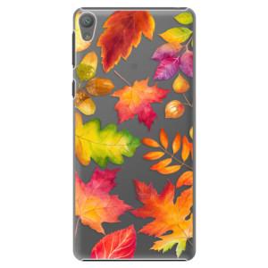 Plastové pouzdro iSaprio Autumn Leaves 01 na mobil Sony Xperia E5