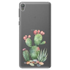 Plastové pouzdro iSaprio Cacti 01 na mobil Sony Xperia E5
