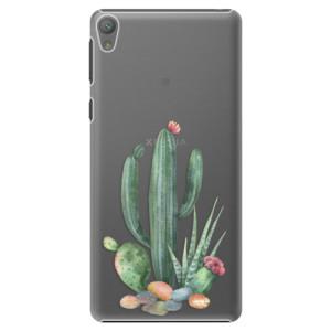Plastové pouzdro iSaprio Cacti 02 na mobil Sony Xperia E5