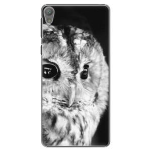 Plastové pouzdro iSaprio BW Owl na mobil Sony Xperia E5