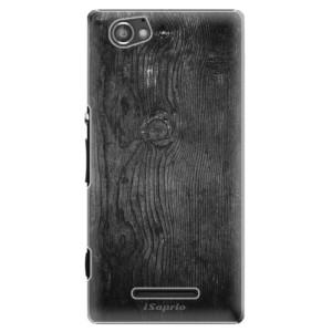 Plastové pouzdro iSaprio Black Wood 13 na mobil Sony Xperia M