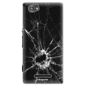 Plastové pouzdro iSaprio Broken Glass 10 na mobil Sony Xperia M