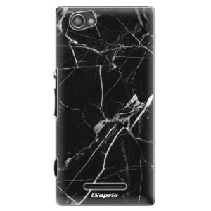 Plastové pouzdro iSaprio Black Marble 18 na mobil Sony Xperia M