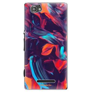 Plastové pouzdro iSaprio Color Marble 19 na mobil Sony Xperia M