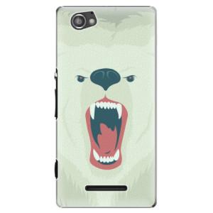 Plastové pouzdro iSaprio Angry Bear na mobil Sony Xperia M