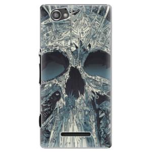 Plastové pouzdro iSaprio Abstract Skull na mobil Sony Xperia M