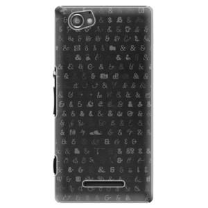 Plastové pouzdro iSaprio Ampersand 01 na mobil Sony Xperia M