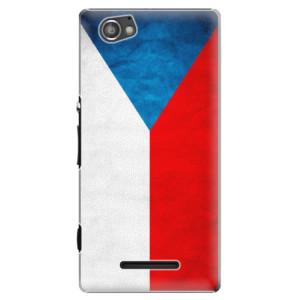 Plastové pouzdro iSaprio Czech Flag na mobil Sony Xperia M