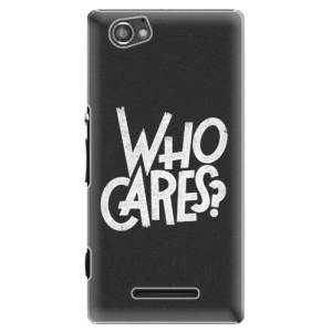 Plastové pouzdro iSaprio Who Cares na mobil Sony Xperia M