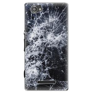 Plastové pouzdro iSaprio Cracked na mobil Sony Xperia M