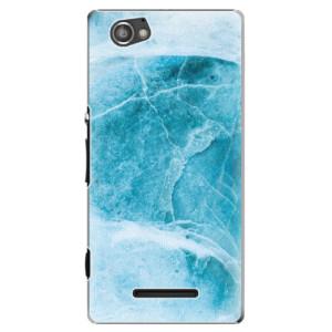 Plastové pouzdro iSaprio Blue Marble na mobil Sony Xperia M