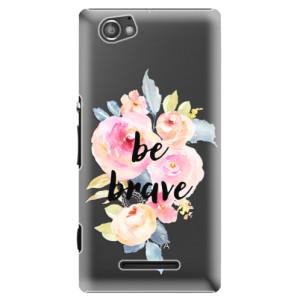 Plastové pouzdro iSaprio Be Brave na mobil Sony Xperia M