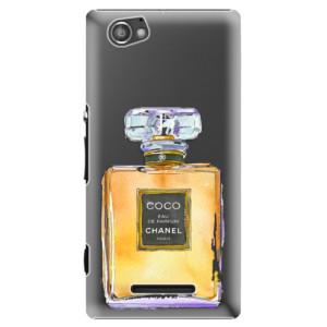 Plastové pouzdro iSaprio Chanel Gold na mobil Sony Xperia M