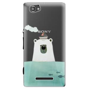 Plastové pouzdro iSaprio Bear With Boat na mobil Sony Xperia M