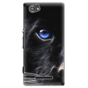 Plastové pouzdro iSaprio Black Puma na mobil Sony Xperia M