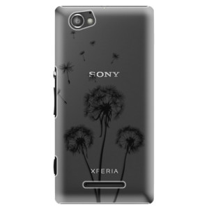 Plastové pouzdro iSaprio Three Dandelions black na mobil Sony Xperia M